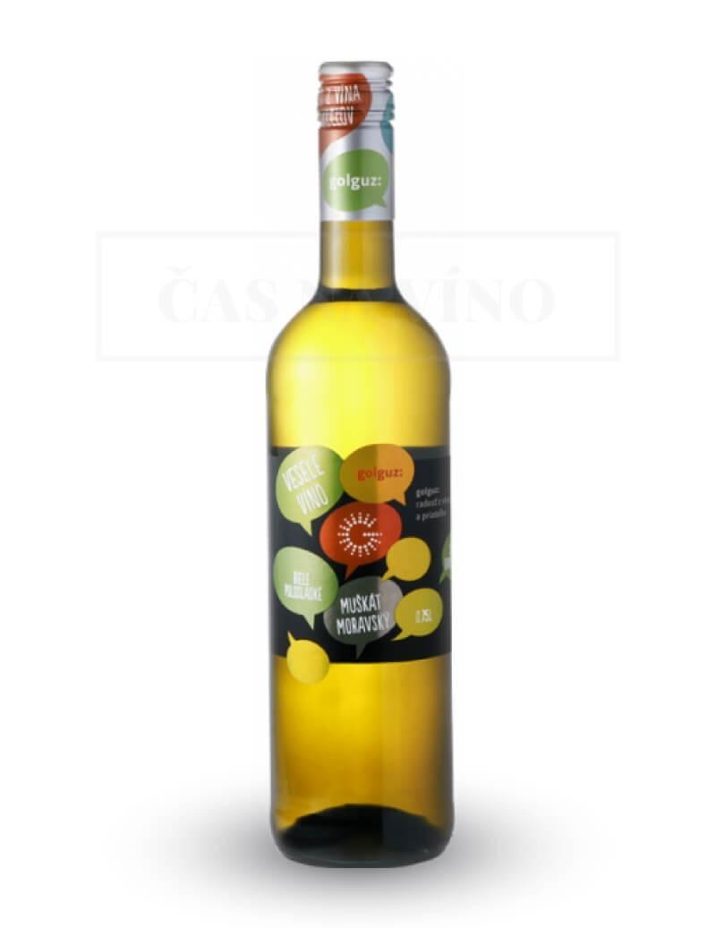 Muškát Moravský 2018 z vinárstva Golguz
