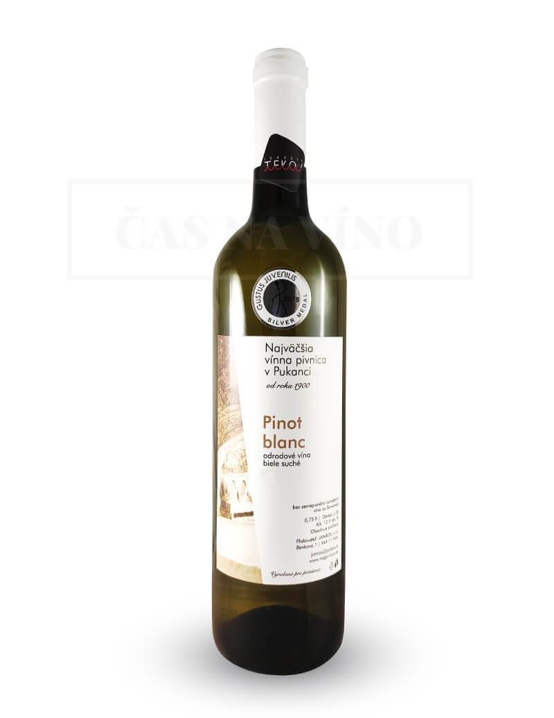 Pinot Blanc 2018 z vinárstva Najväčšia vínna pivnica v Pukanci