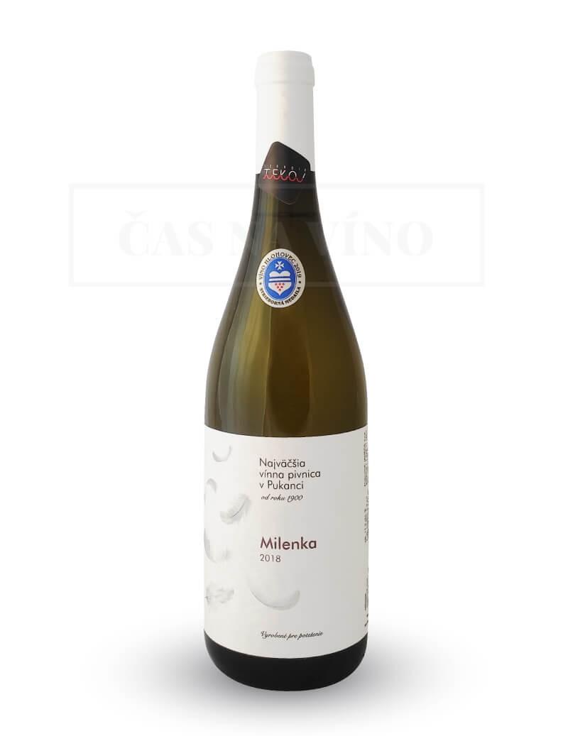 Milenka 2018 z vinárstva Najväčšia vínna pivnica v Pukanci
