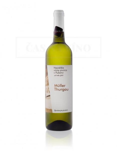 Najväčšia vínna pivnica v Pukanci - Müller Thurgau