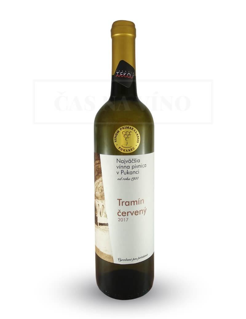 Tramín Červený 2017 z vinárstva Najväčšia vínna pivnica v Pukanci