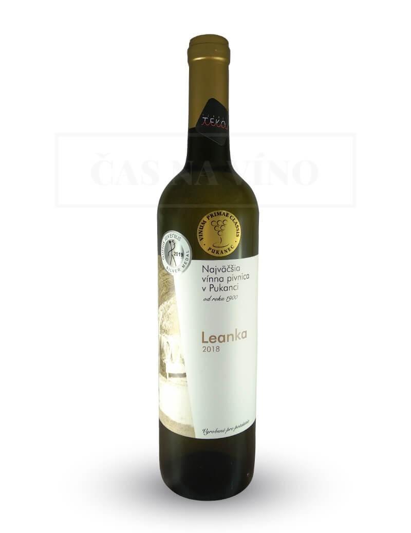 Leanka 2018 z vinárstva Najväčšia vínna pivnica v Pukanci
